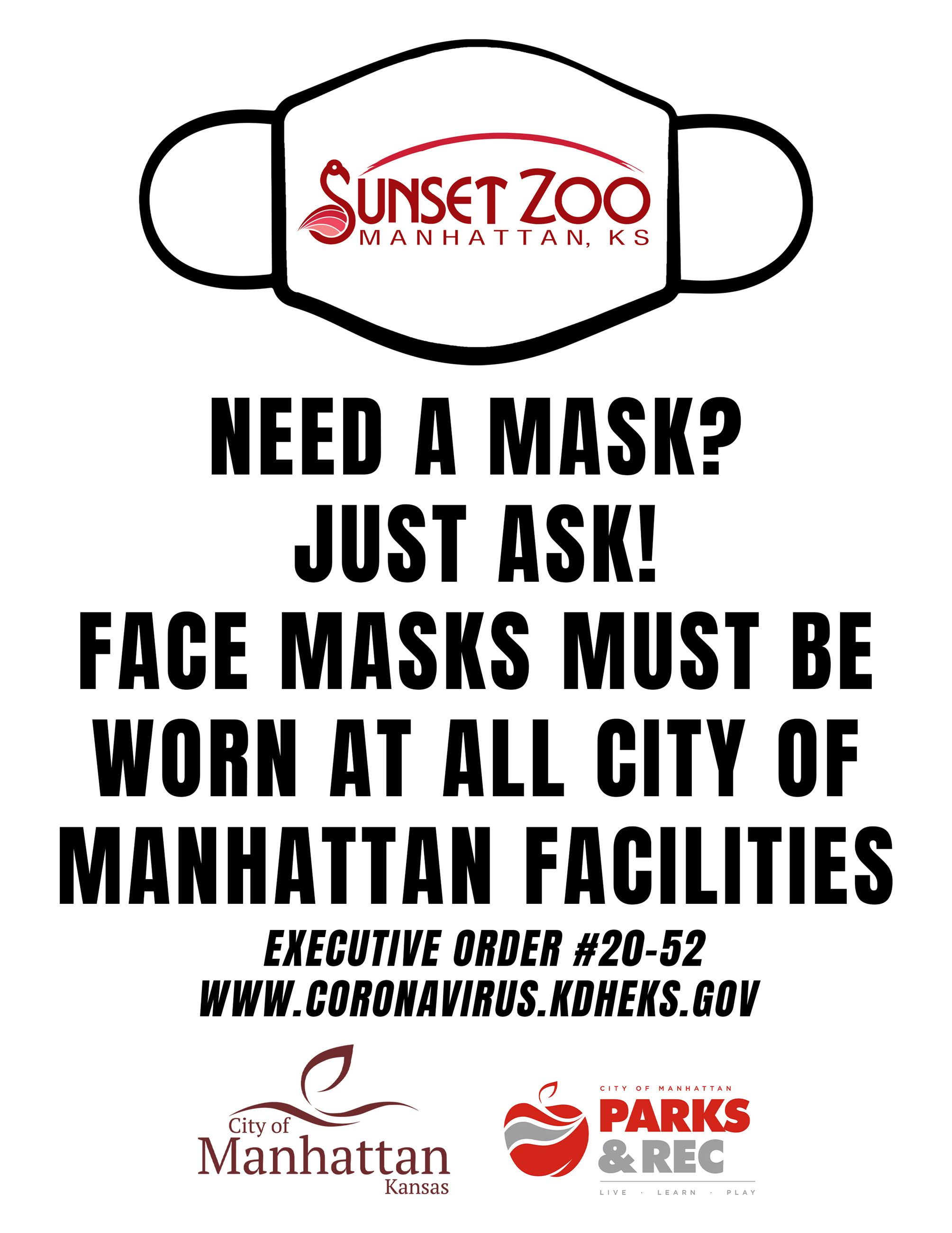 executive order mask sign ZOO